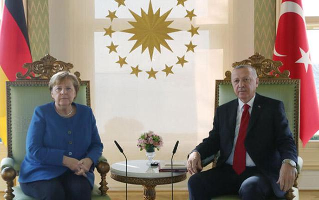 Ərdoğanla Merkelin görüşü oldu
