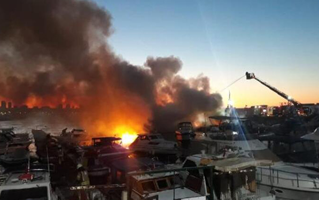 İstanbulda 6 gəmi yandı