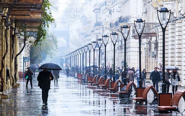 Sabaha intensiv yağış gözlənilir