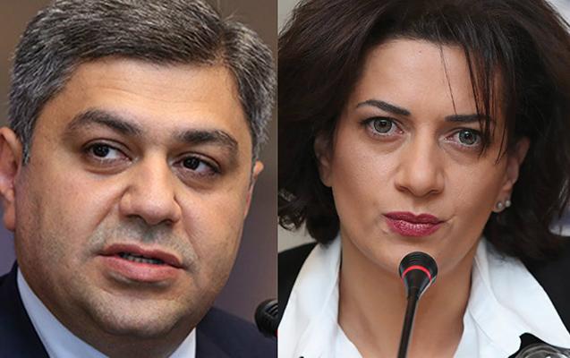 Ermənistan MTX-nın eks-direktoru ilə Paşinyanın xanımı qarşı-qarşıya