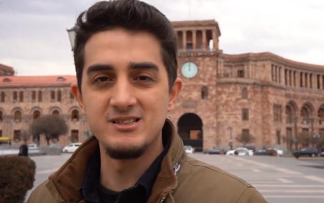 İrəvanda Xocalı soyqırımı ilə bağlı sorğu - Türk bloqqer Ermənistanda+Video