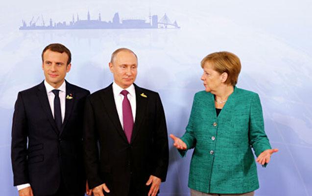 Putin, Makron və Merkelin telefon danışığı oldu