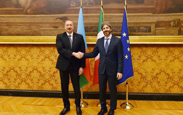 Prezident İtaliya Deputatlar Palatasının sədri ilə görüşdü