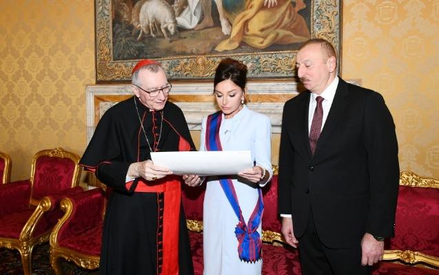İlham Əliyev Vatikanda Müqəddəs Taxt-Tacın dövlət katibi ilə görüşdü