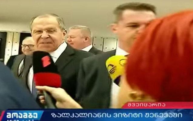 Lavrovdan gürcü jurnalistlərə sərt reaksiya