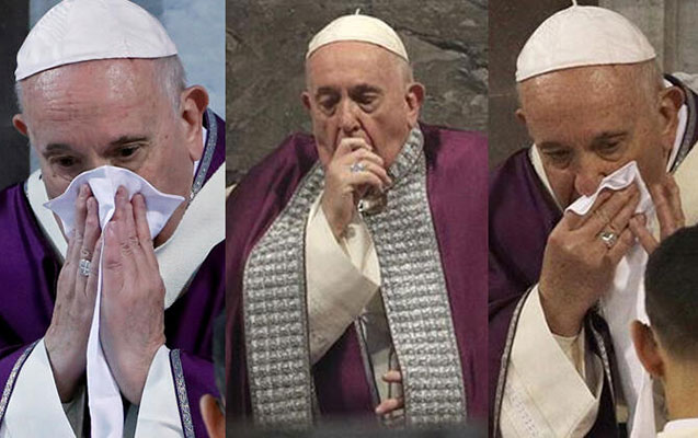 Papa xəstələndi, bütün tədbirləri ləğv edildi