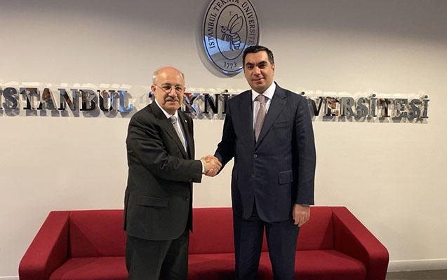 Elmar Qasımov İstanbul Texnik Universitetinin rektoru ilə görüşüb