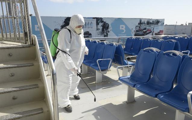 """ARDDA və """"Mirvari"""" gəmisində dezinfeksiya işləri həyata keçirilib"""