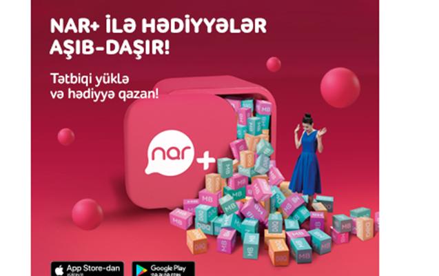 """""""Nar+"""" tətbiqini yüklə və hədiyyə qazan!"""