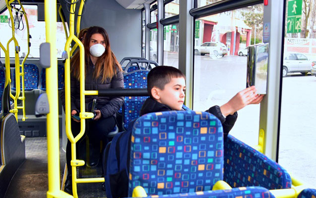 Bakıdakı avtobuslara dezinfeksiya məhlul qoyuldu