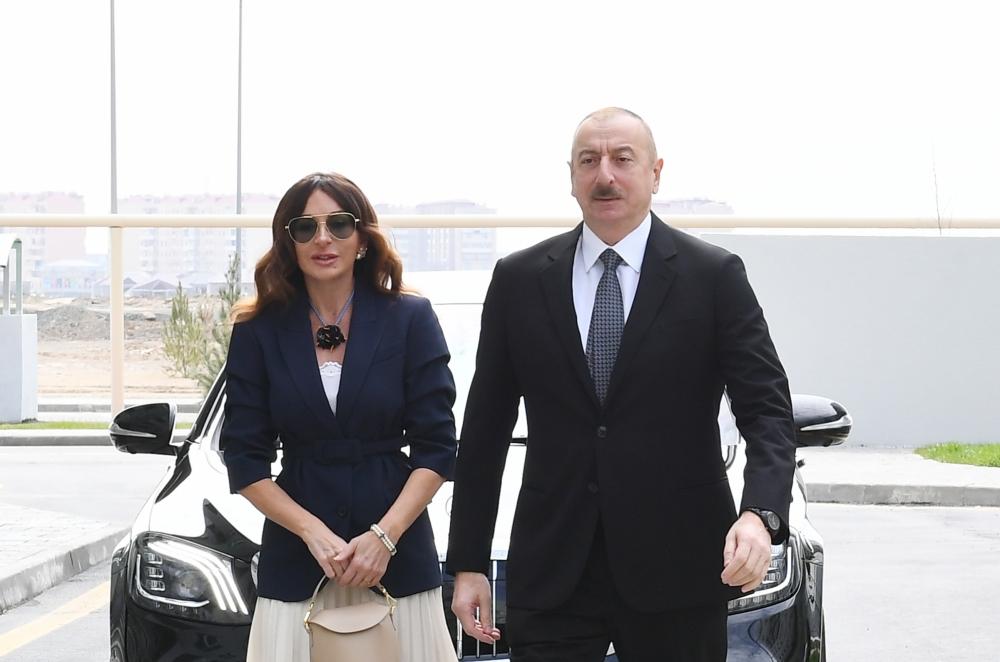 İlham Əliyev Hövsanda açılışda iştirak etdi