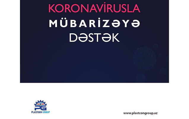 """""""Plastcon Group"""" koronovirusla mübarizəyə 5 min vəsait ayırdı"""