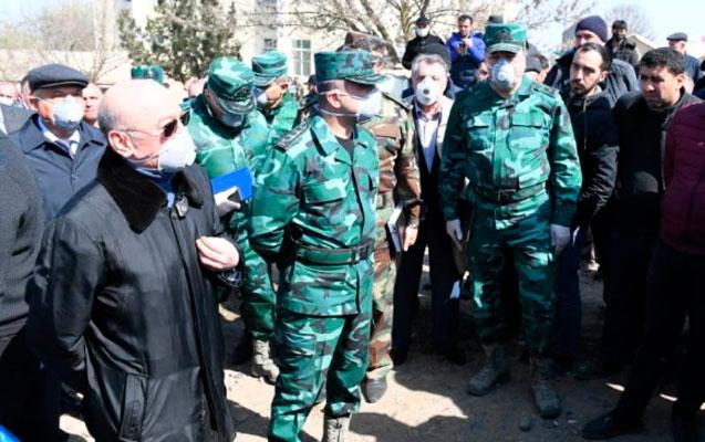 Generallar Prezidentin tapşırığı ilə karantin ərazisinə yollandı