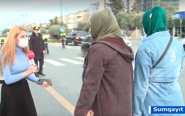 Sorğu keçirən jurnalisti hamı tənqid etdi - Video