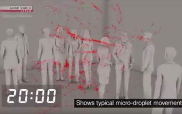 Yapon alimlərdən virusun hava ilə yayıldığını sübut edən - Video