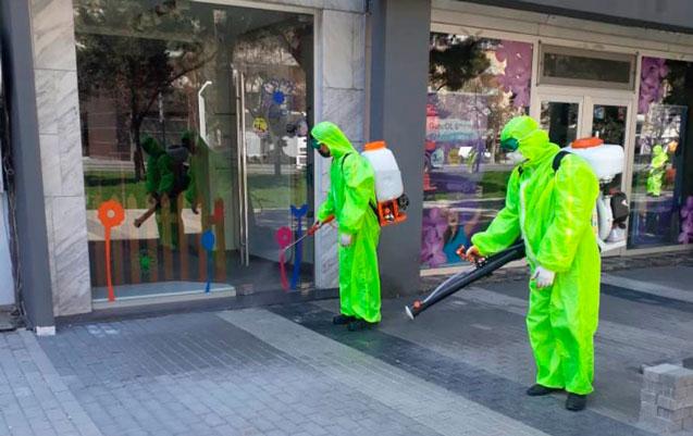 Nizami rayonunda koronavirusla bağlı profilaktik tədbirlər davam edir