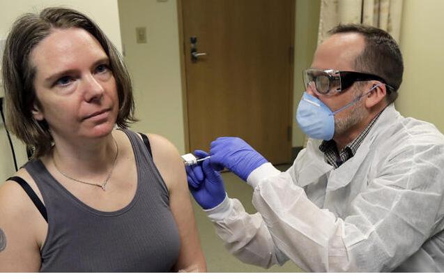 Koronavirus peyvəndi vurulan qadından - İlk açıqlama + Video