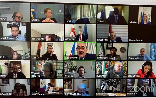 UNESKO-ya üzv dövlətlərin nazirləri virtual görüşdü