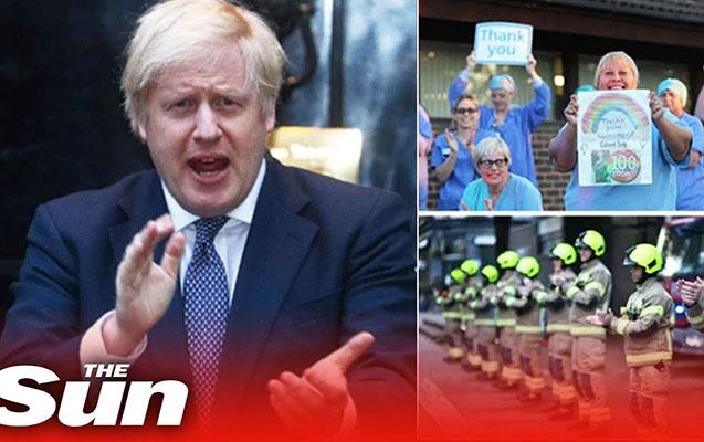 Boris Conson küçəyə çıxaraq tibb işçilərini alqışladı - Video