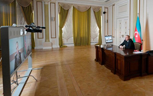 Prezident Kamran Əliyevi videoformatda qəbul etdi