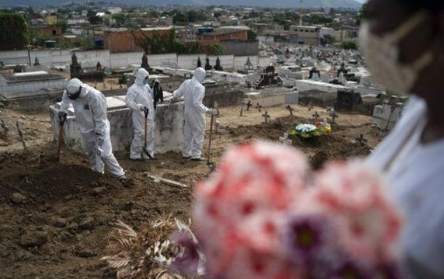Braziliyada koronavirusdan 1 sutkada 1322 nəfər öldü