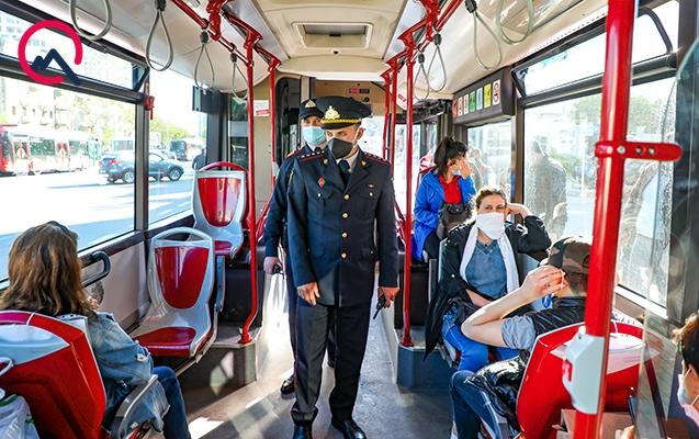 Avtobuslarda maskaya görə cərimələnənlərin sayı açıqlanıb