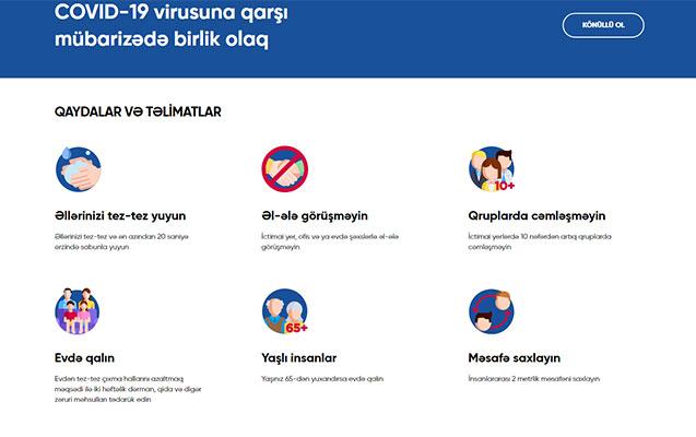 """Koronavirusinfo.az-da """"Qaydalar hamı üçün eynidir"""" sistemi yaradıldı"""