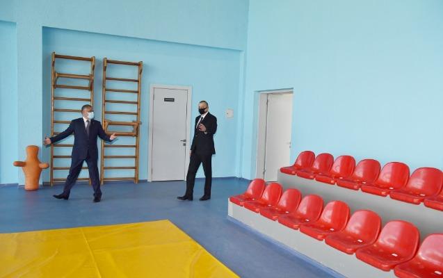 Dövlət başçısı Tərtər Olimpiya İdman Kompleksinin açılışında