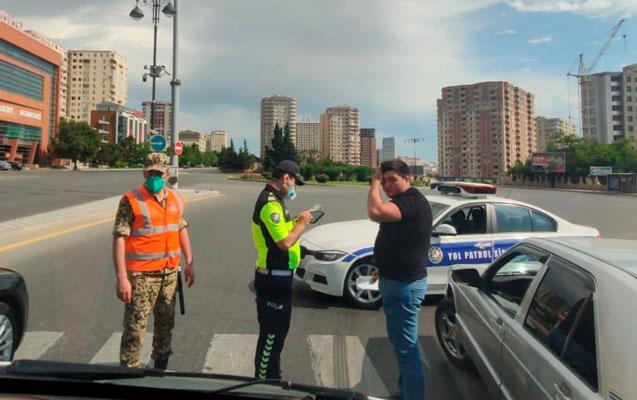 Yol polisi maşınla icazəsiz çıxanları cəzalandırır