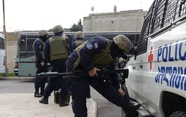 Gürcüstan DTX-sı Tbilisinin mərkəzində xüsusi əməliyyat keçirdi