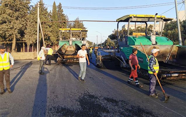 Suraxanıda yol-nəqliyyat sahəsində yenidənqurma davam etdirilir - Fotolar