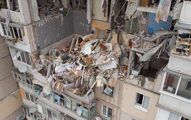 Ukraynada 9 mərtəbəli binada partlayışda 3 nəfər öldü - Video