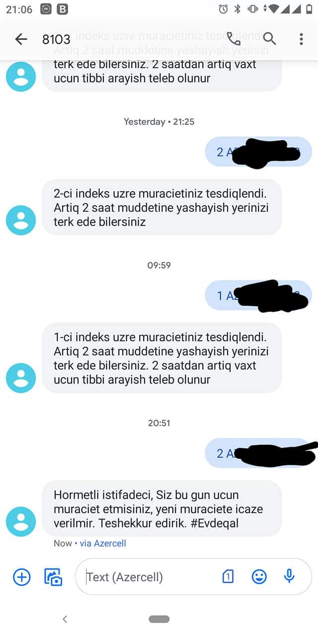 """Bir gündə 2-ci SMS-icazə istədi, """"yox"""" cavabı aldı"""