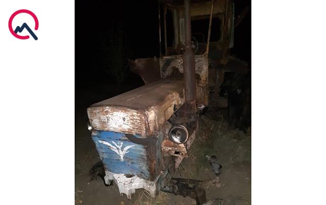 Goranboyda traktor yandı