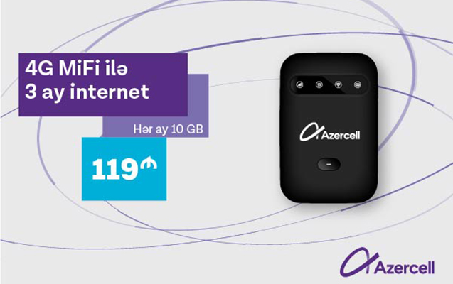 Azercell yeni 4G MiFi kampaniyasına başlayıb