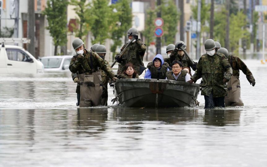 Yaponiyada güclü yağışlar, 52 nəfər öldü