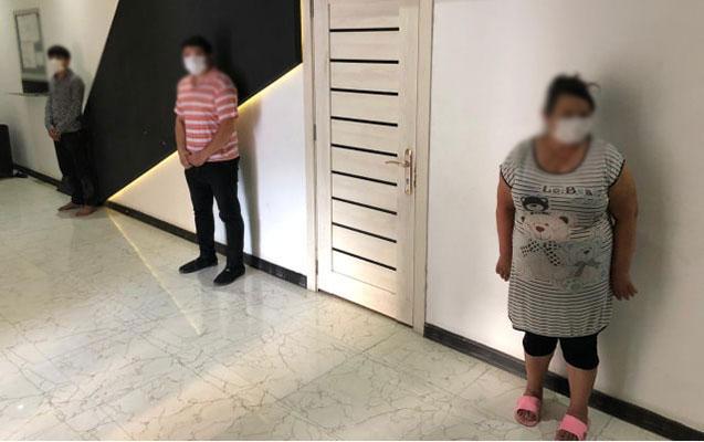 """""""Sabunçu bazarı""""nda işləyən kafedə 8 qadın saxlanıldı"""