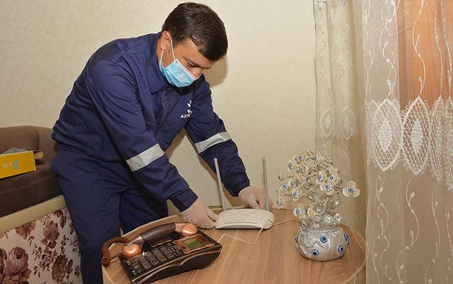 """""""Aztelekom"""" 700 mininci evi telekommunikasiya xidmətləri ilə təmin etdi"""