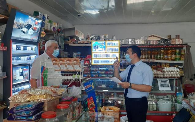 """Araz supermarket""in 7 mağazasında qaydalar pozuldu"