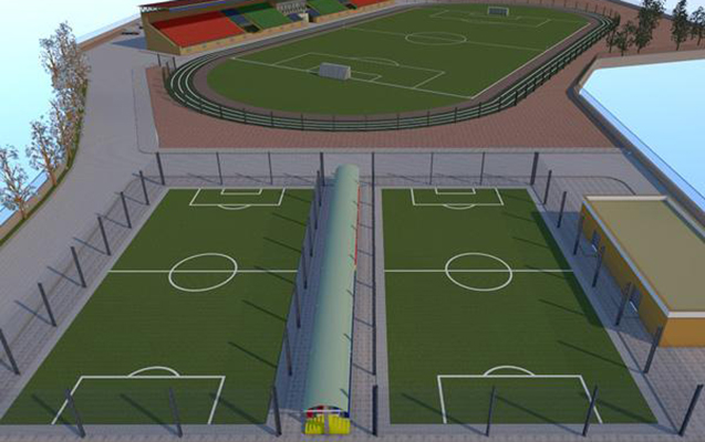 Şamaxıda stadion tikintisinə başlanıldı
