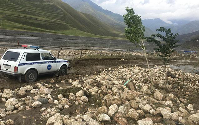 Quba-Xınalıq yolu açıldı- Foto