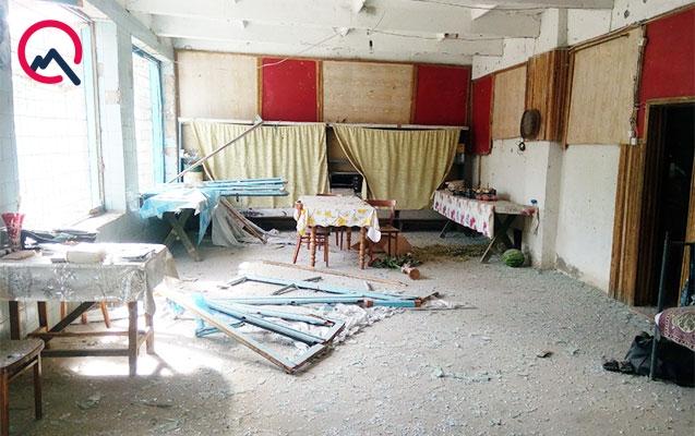 Mülki vətəndaşın vurulduğu evdən fotolar