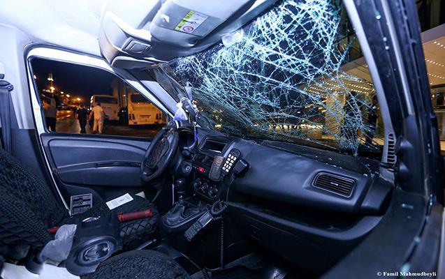 Həmin gecə aşırılan polis maşını - Fotolar