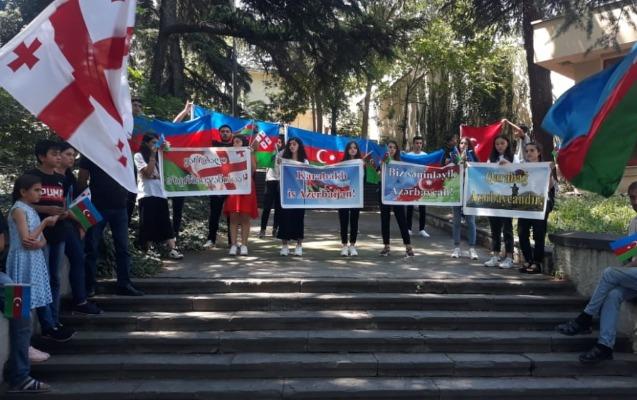Ordumuza dəstək aksiyası Tbilisidə də keçirilib