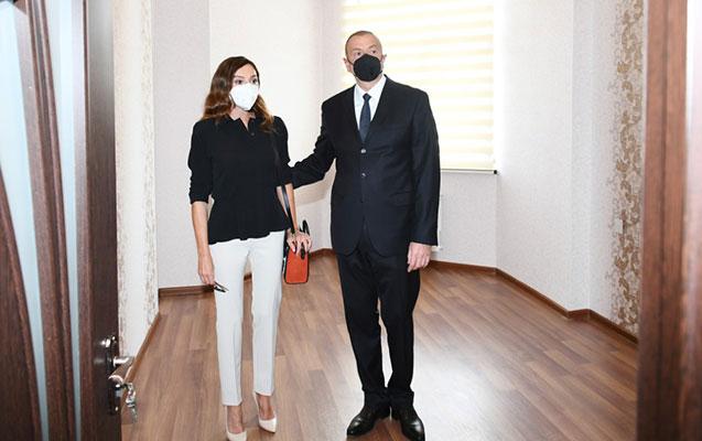 Prezidentlə xanımı yataqxananın açılışında iştirak etdi