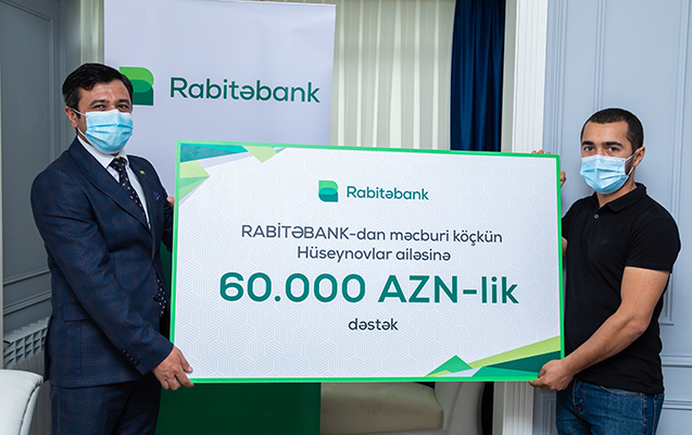 """""""Rabitəbank""""dan məcburi köçkün ailəsinə 60 min AZN-lik dəstək"""