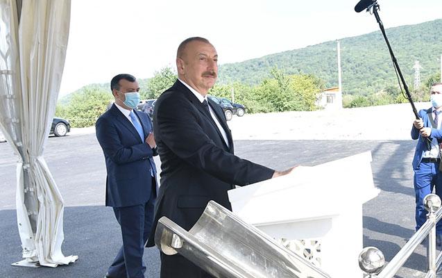 Prezident yeni mərkəzin təməlini qoydu