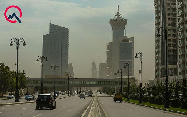 Havada toz dumanı müşahidə olunur