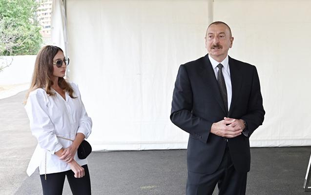 Prezident yeni parkda görüləcək işlərlə tanış oldu