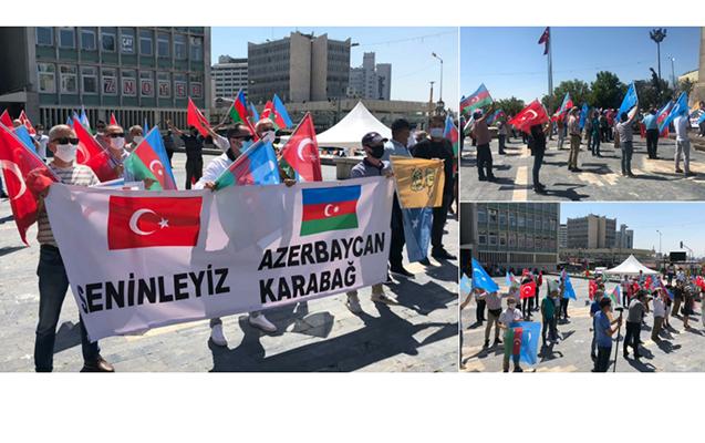 Ankarada Azərbaycana növbəti dəstək aksiyası keçirilib